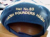 Rear of Founders Hats